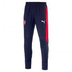 Pantalon survêtement junior Arsenal bleu bandes rouges 2016 - 2017