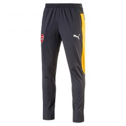 Pantalon survêtement junior Arsenal gris bandes jaunes 2016 - 2017