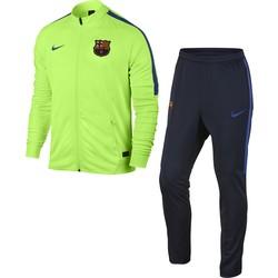 Ensemble survêtement FC Barcelone haut vert bas bleu fit 2016 - 2017