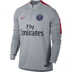 Sweat zippé junior PSG gris 2016 - 2017