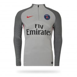 Sweat zippé technique PSG gris 2016 - 2017