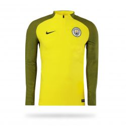 Sweat Zippé Manchester City Strike jaune 2016 - 2017