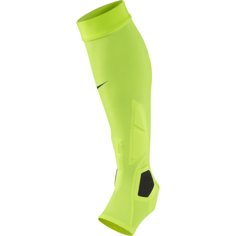 Chaussettes Protège Tibias Nike Hyperstrong Match Sleeves jaunes