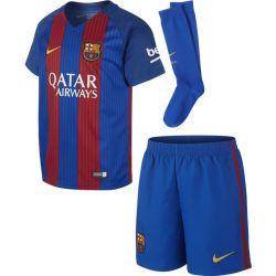 Tenue match junior domicile FC Barcelone avec sponsor 2016 - 2017