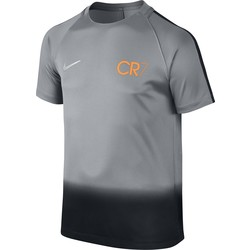 CR7 Y NK DRY SQD TOP SS GX BLACK OR GREY