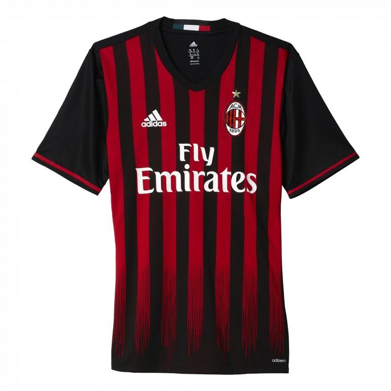 Maillot match Milan AC Authentique domicile 2016 - 2017