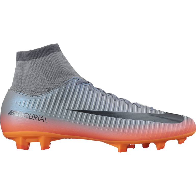 Mercurial Victory VI CR7 Dynamic Fit FG gris et noir