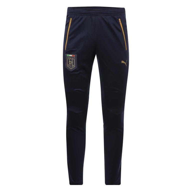 Pantalon survêtement Italie bleu zippé doré 2016