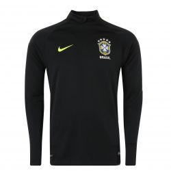 Sweat zippé Brésil noir 2017