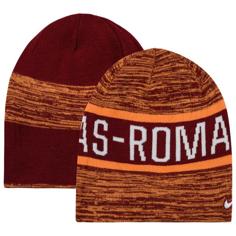 Bonnet réversible AS Rome rouge