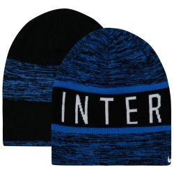Bonnet réversible Inter Milan noir et bleu