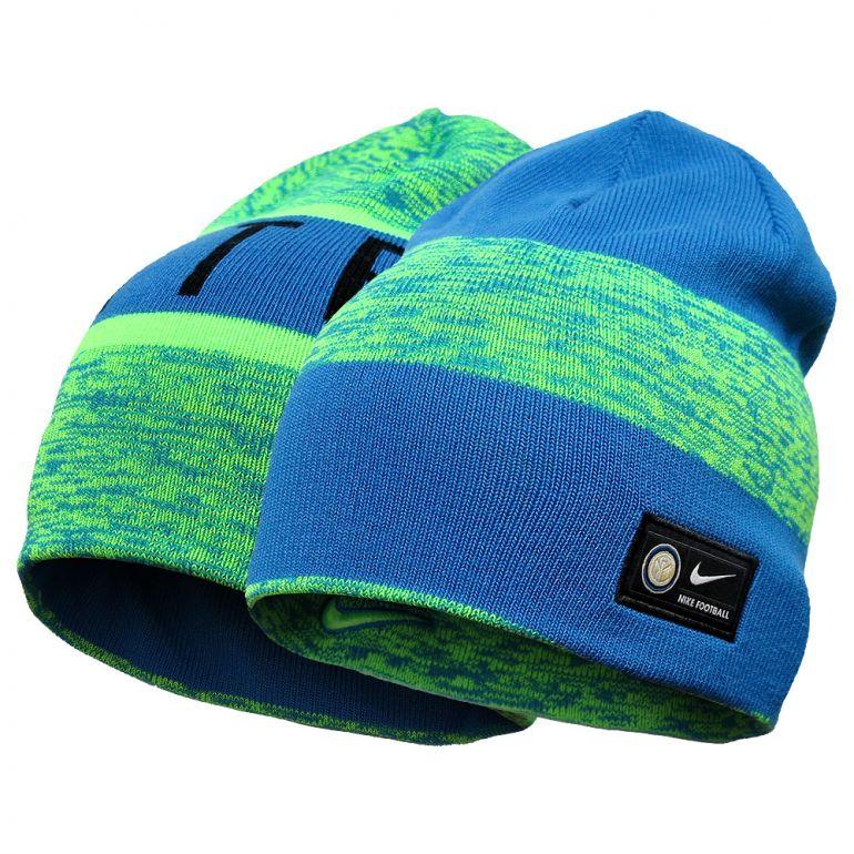 Bonnet réversible Inter Milan bleu et vert
