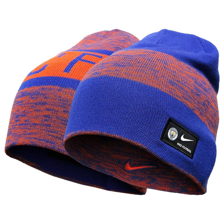 Bonnet réversible Manchester City bleu et orange