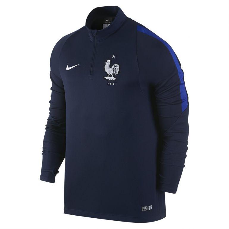 Sweat zippé Equipe de France FFF bleu 2016