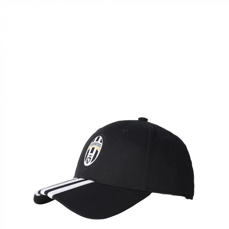 Casquette Juventus noire 3 bandes blanches