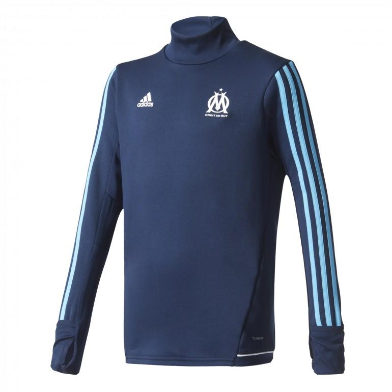 Sweat entraînement junior OM bleu foncé 2017/18