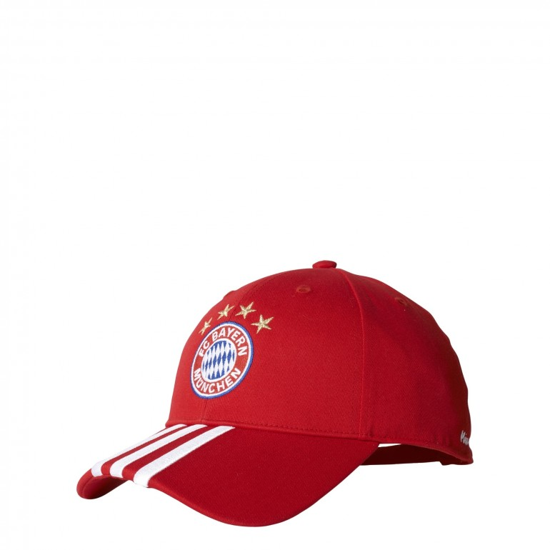 Casquette Bayern Munich rouge 3 bandes blanches