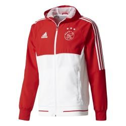 Veste survêtement Ajax Amsterdam rouge blanc 2017/18