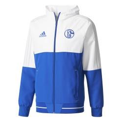 Veste survêtement Schalke 04 blanc 2017/18