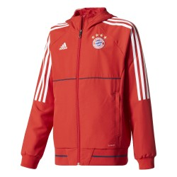 Veste survêtement junior Bayern Munich rouge 2017/18