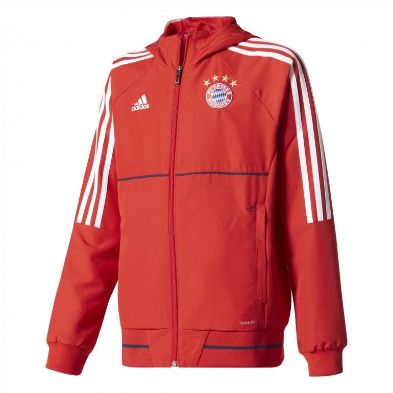Veste survêtement junior Bayern Munich rouge 2017/18