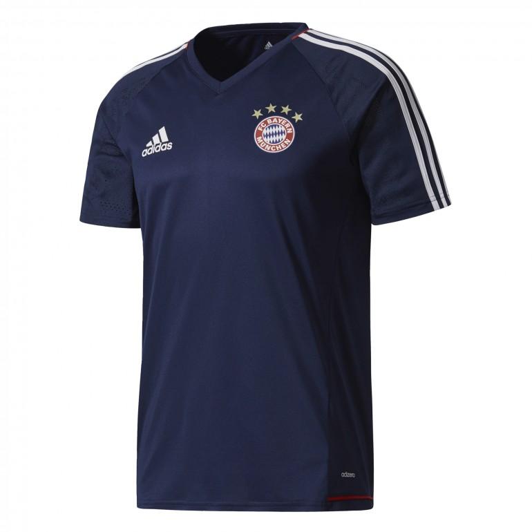 Maillot entraînement Bayern Munich rouge bleu foncé 2017/18