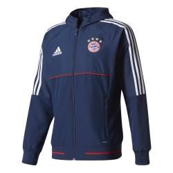 Veste survêtement Bayern Munich bleu foncé 2017/18