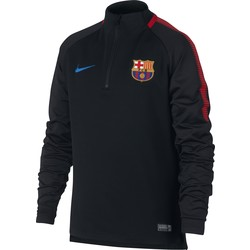 Sweat zippé junior FC Barcelone noir rouge 2017/18