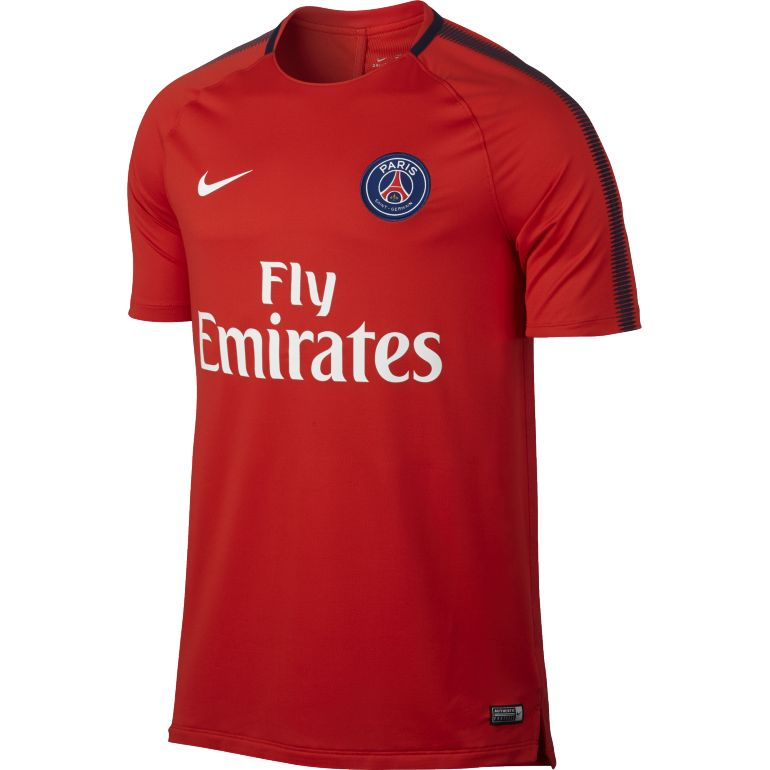 maillot entra nement psg rouge 2017 18 sur. Black Bedroom Furniture Sets. Home Design Ideas