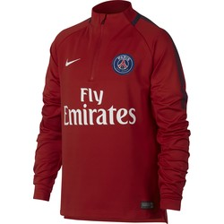 Sweat zippé junior PSG rouge 2017/18