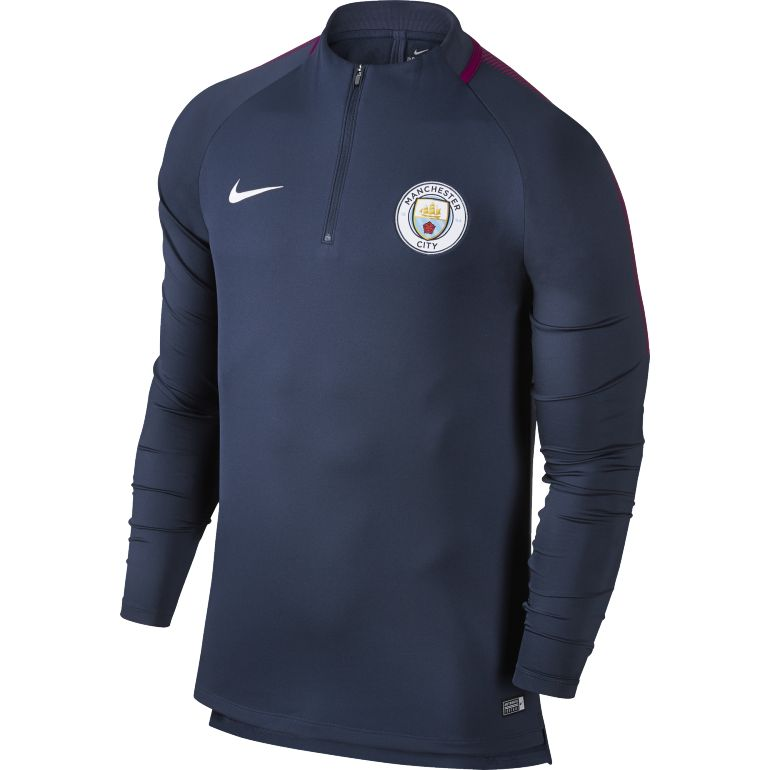 Sweat zippé Manchester City bleu 2017/18