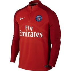 Sweat zippé PSG technique rouge 2017/18