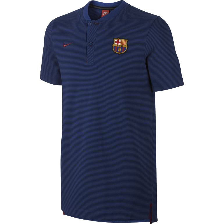 Polo FC Barcelone authentique bleu 2017/18