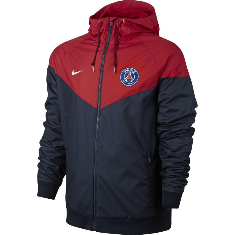 Coupe vent PSG bleu rouge 2017/18