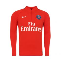 Sweat zippé PSG rouge 2017/18