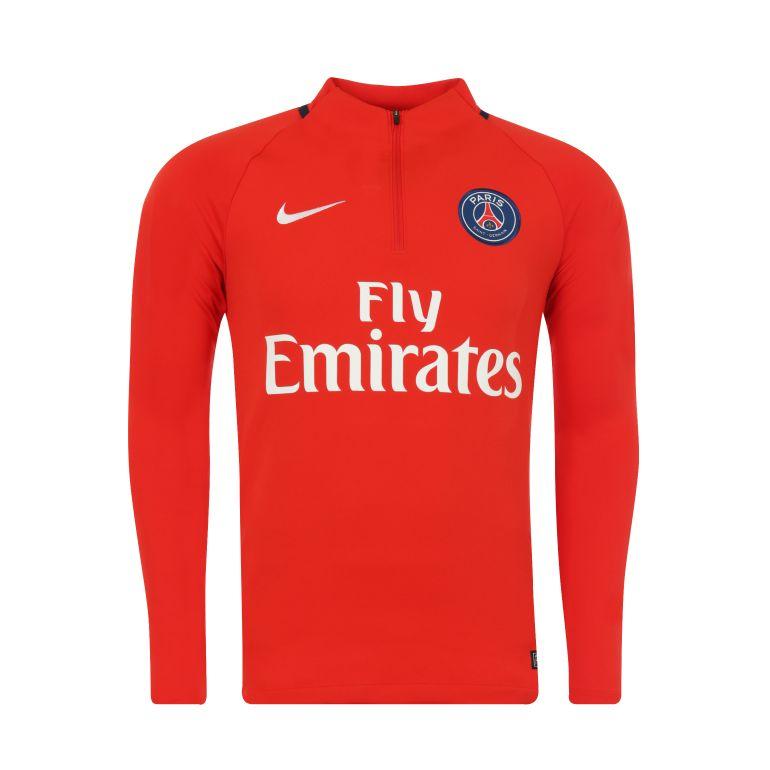 Sweat zippé PSG rouge 2017/18