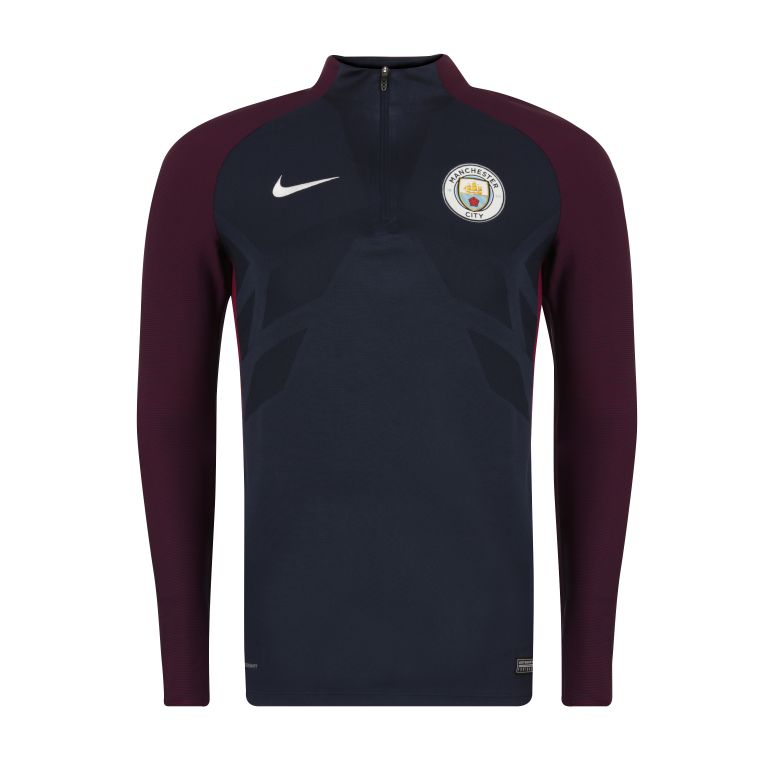 Men's Nike AeroSwift Manchester City FC Strike Drill Top BLUE 2017/18