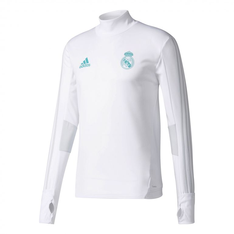 Sweat entraînement Real Madrid blanc 2017/18