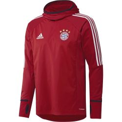 Sweat Bayern Munich Warm Top rouge blanc 2017/18