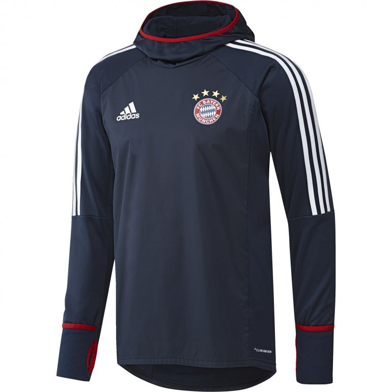 Sweat Bayern Munich Warm Top blanc rouge 2017/18