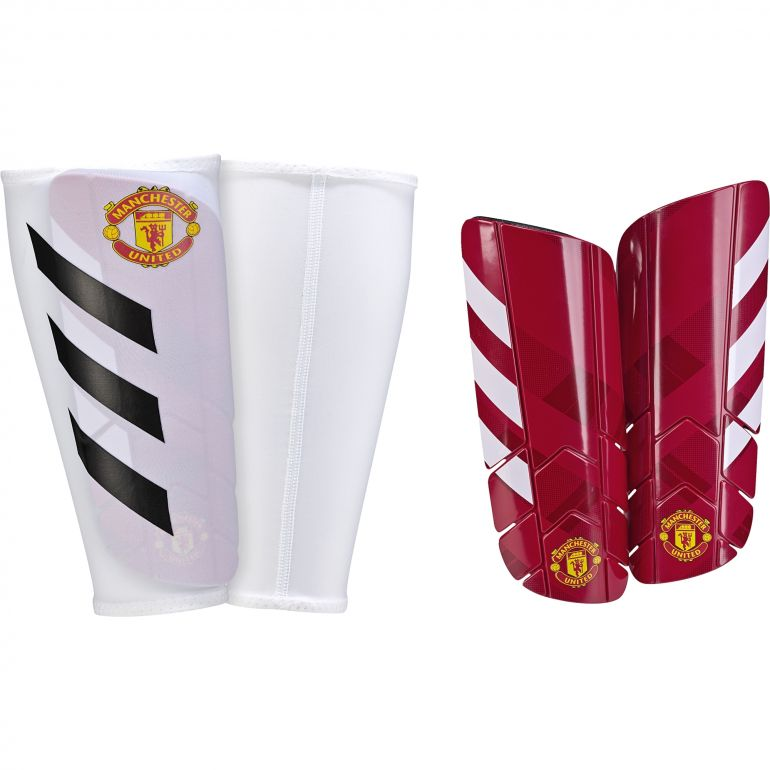 Protège tibias pro lite Manchester United rouge blanc