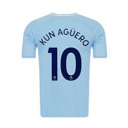 Maillot Kun Agüero Manchester City domicile 2017/18