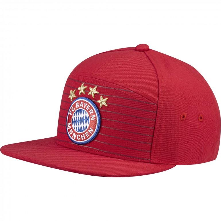 Casquette Bayern Munich rouge visière plate