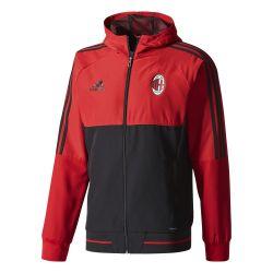 Veste survêtement Milan AC rouge noir 2017/18