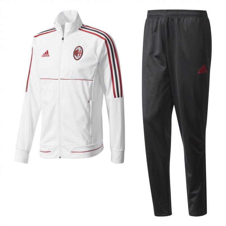 Ensemble survêtement Milan AC blanc noir 2017/18