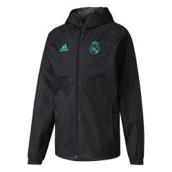 Veste imperméable Real Madrid noir 2017/18