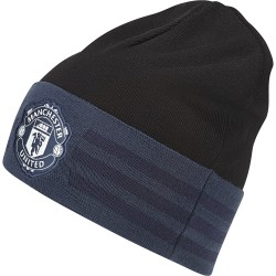 Bonnet Manchester United 3 bandes bleu et noir
