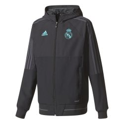 Veste survêtement junior Real Madrid noir 2017/18