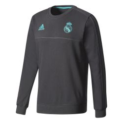 Sweat entraînement Real Madrid noir 2017/18