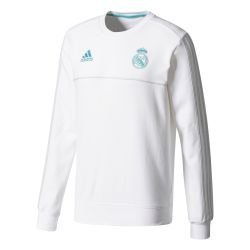 Sweat entraînement Real Madrid blanc vert 2017/18